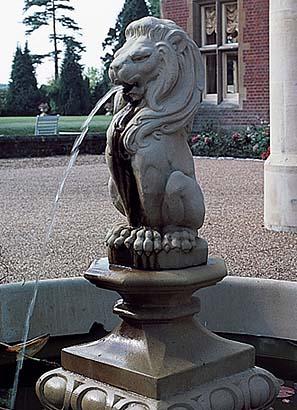 Lion Fountain Beyond The Veranda
